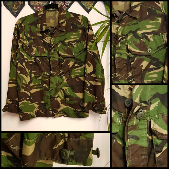 Vintage Retro Military Cargo Shirt Jacket Size S/M