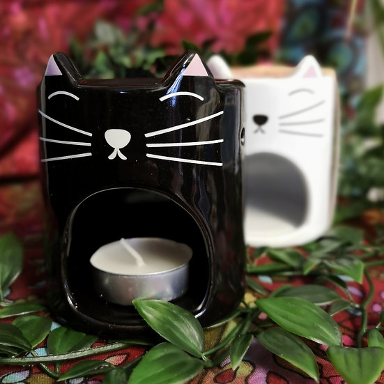 Cat Face Cylinder Oil/Wax Burner