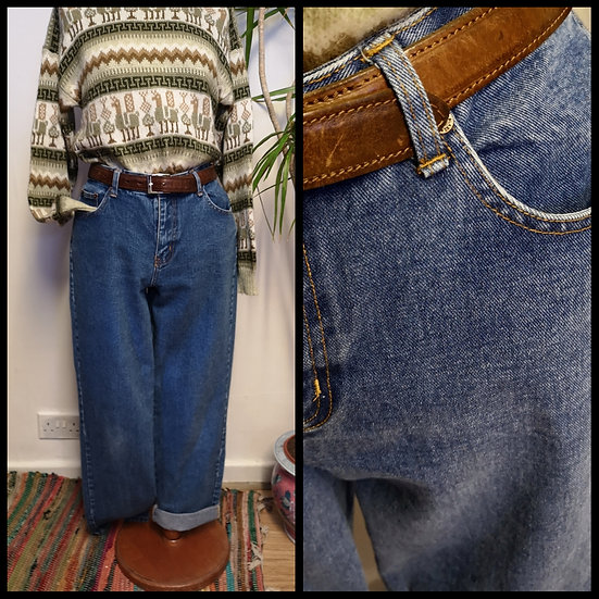 Vintage 90's High-Waist Jeans Unisex Size S/M 32 Waist