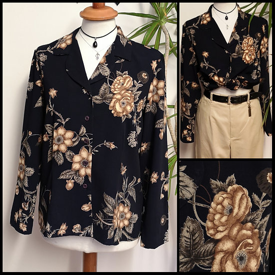 Vintage 90's Fitted Floral PrintBlouse Size S/M