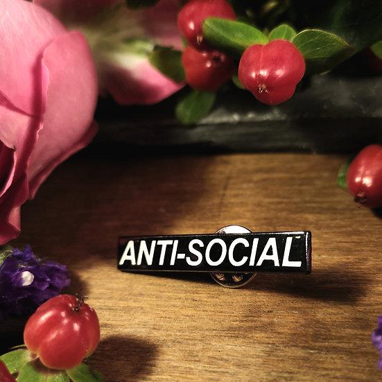 Antisocial Pin Badge