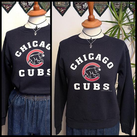 Vintage 90's US CubsSport Crop Sweatshirt Unisex Size S