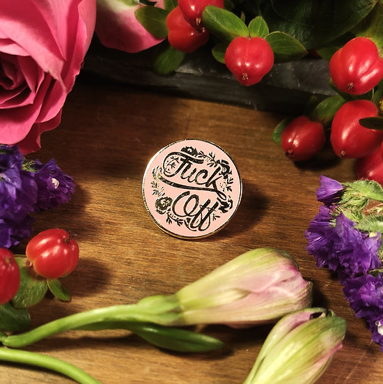 F*ck Off Floral Pin Badge