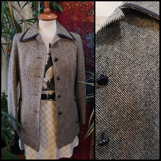 Vintage 70's Wool Tweed Jacket Size S/M
