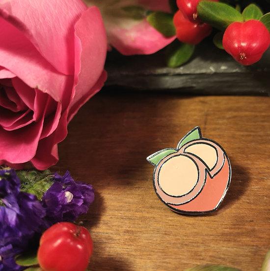 Peachy Peach Pin Badge