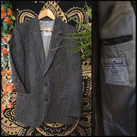 Vintage 90's Harris Tweed Pure Wool Blazer Jacket Size S/M