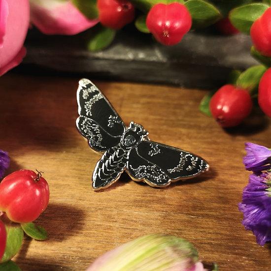 Death's Head Moth Pin Badge