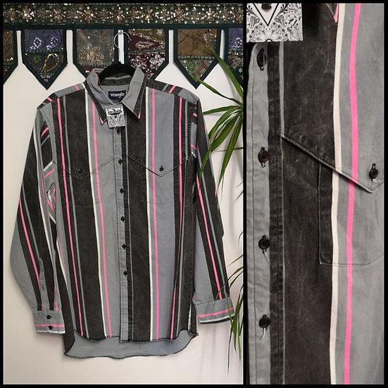 Vintage 90's Wrangler Heavy Cotton Striped Shirt Size M/L