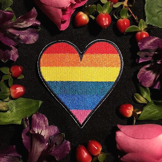 Rainbow Heart Patch