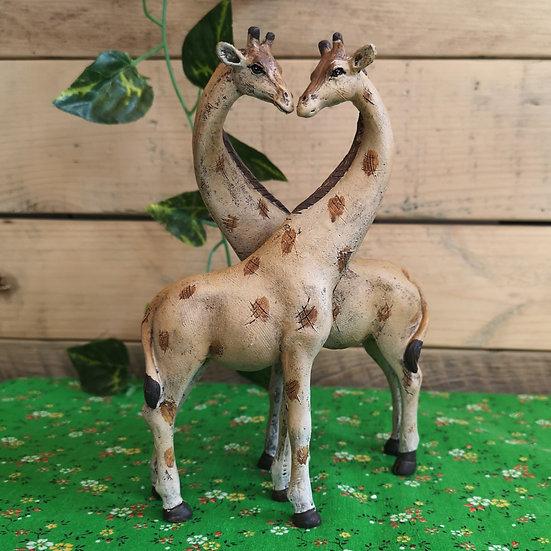 Cute Couple Giraffes in Love Ornament - 2 piece