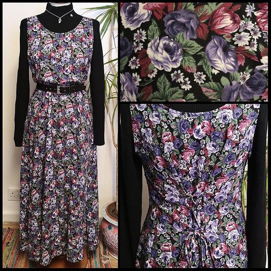 Vintage 90's Floral Midi/LongDress Size S/M