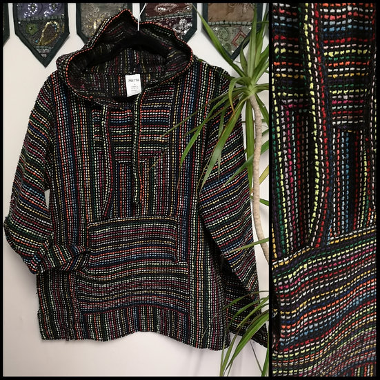 New Fairtrade Made in Mexico Unisex Baja Hoodie Size M/L