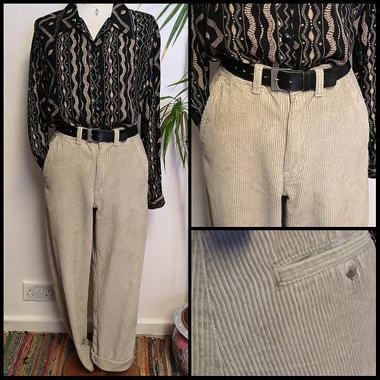 Vintage 90's Sandy Cord Trousers Size S/M