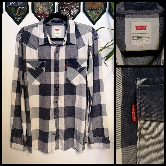 Vintage 90's Levi'sChecked Shirt Unisex Size M