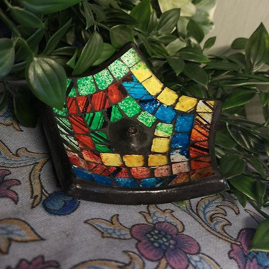 Ceramic & Mosiac Colourful Incense Holder Ash Catcher