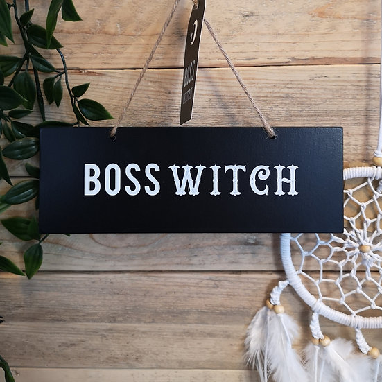 'Boss Witch' Hanging Sign Plaque