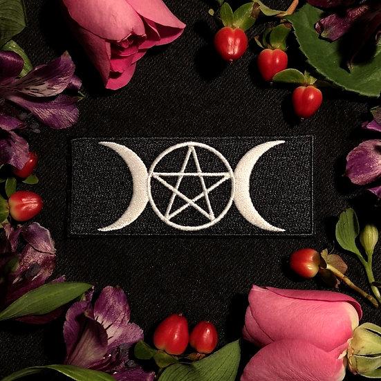 Pentagram Tri Moon Patch