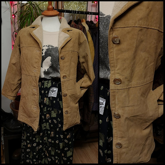 Vintage 90's Real Sheepskin Jacket Size S/M