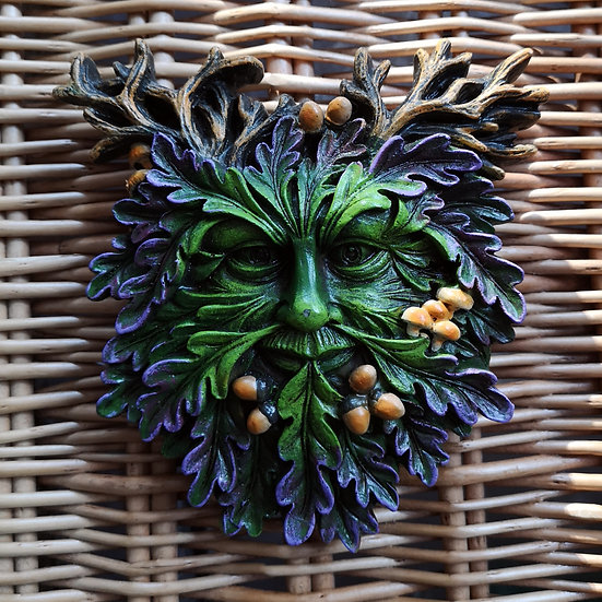 Textured Green Man Wall Plaque 18cm