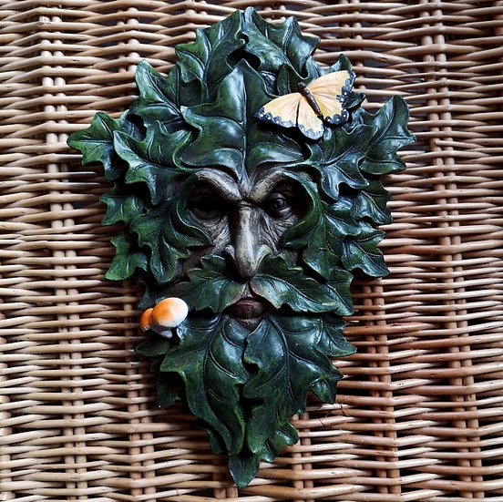 Textured Green Man Wall Plaque 29cm