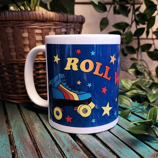 Retro Roller Skates Mug