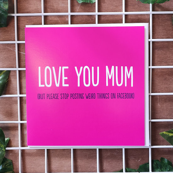 'Love You Mum' (posting on Facebook) Mother's Day Card Square