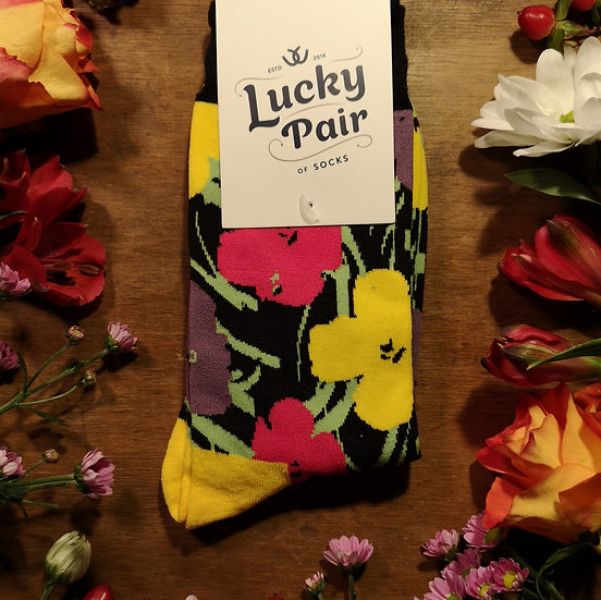 Floral Lucky Pair Of Socks (One Size)