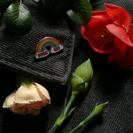 F-Off Rainbow Enamel Pin