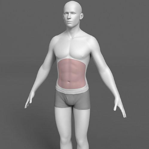 Depilação a Laser Abdômen Masculino - Pacote 10 sessões
