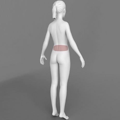 Depilação a Laser Lombar Feminino - Pacote 10 sessões