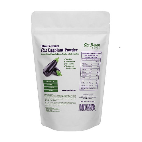 Value Pack 300g of Eggplant Powder and 120g of Husk (in separate packs).