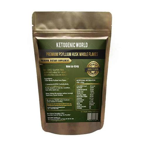 Ketogenic World Premium Psyllium Husk Whole Flakes (454g)