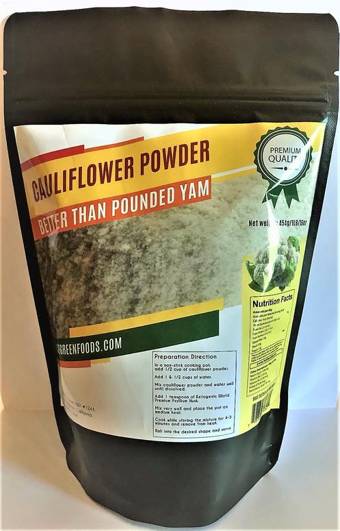 454g of Cauliflower Powder plus 120g of Psyllium Husk Flakes