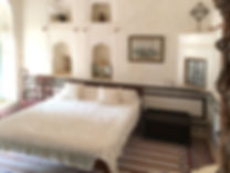 The Rajput Family room, with two single beds for the children