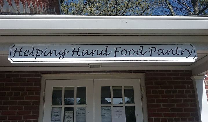 Helping Hand Food Pantry Entrance, Hillsdale Food Pantry