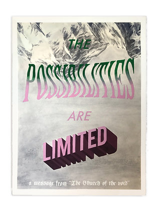 The Possibilities are Limited - Giclee Print