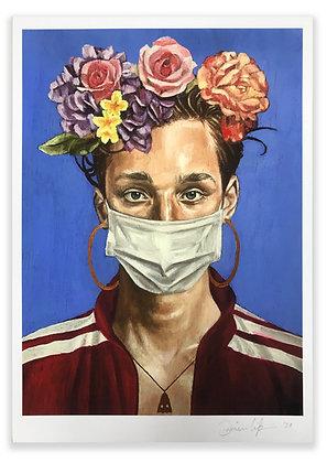 'Quarantine Portrait 3' A4 Giclee Print
