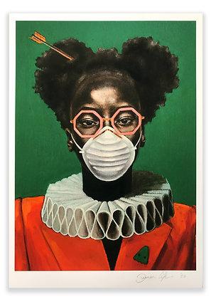 'Quarantine Portrait 1' A4 Giclee Print