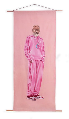 Portrait of Man in Pink Tracksuit