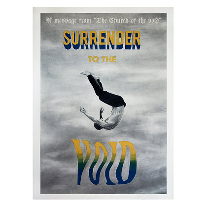 Poster for the Church of the Void (Surrender to the Void)