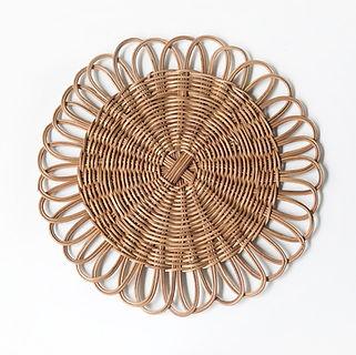 rattan plates
