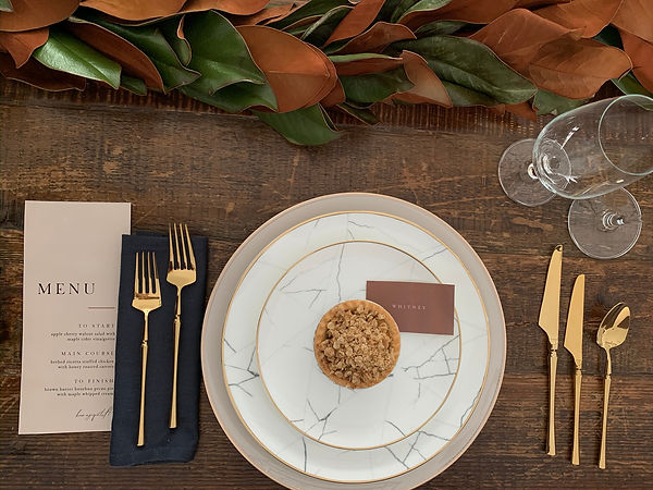 Thanksgiving table setting at home