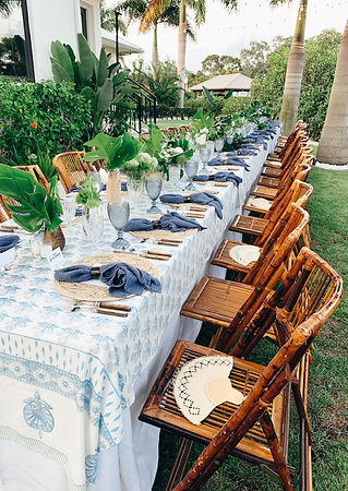 Tropical Table Setting by Anna Lucia Eve