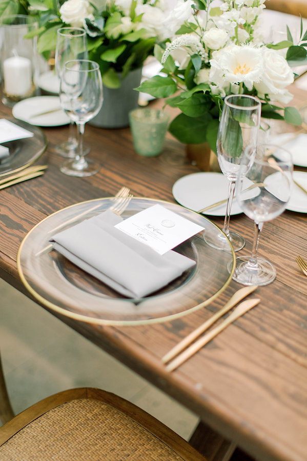Rustic Table Setting for weddings