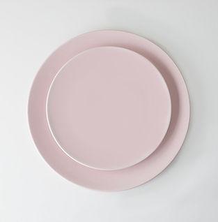 pastel pink plates