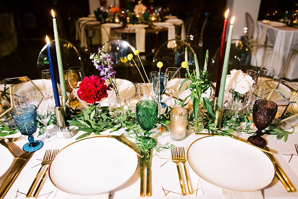 Beautiful Wedding Table Setting at the Bath Club Miami