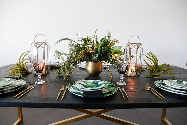 Tropical Tablesetting inspiration