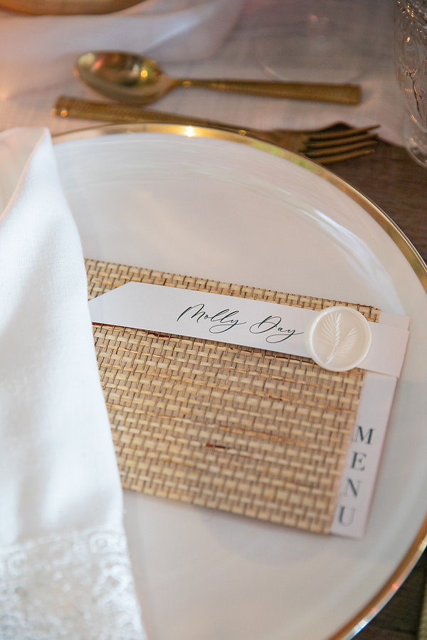 Beautiful White Plates with Gold Edges