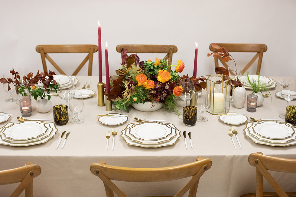 Miami Party Rentals - Thanksgiving Table