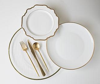 Gold Dinnerware Inspiration
